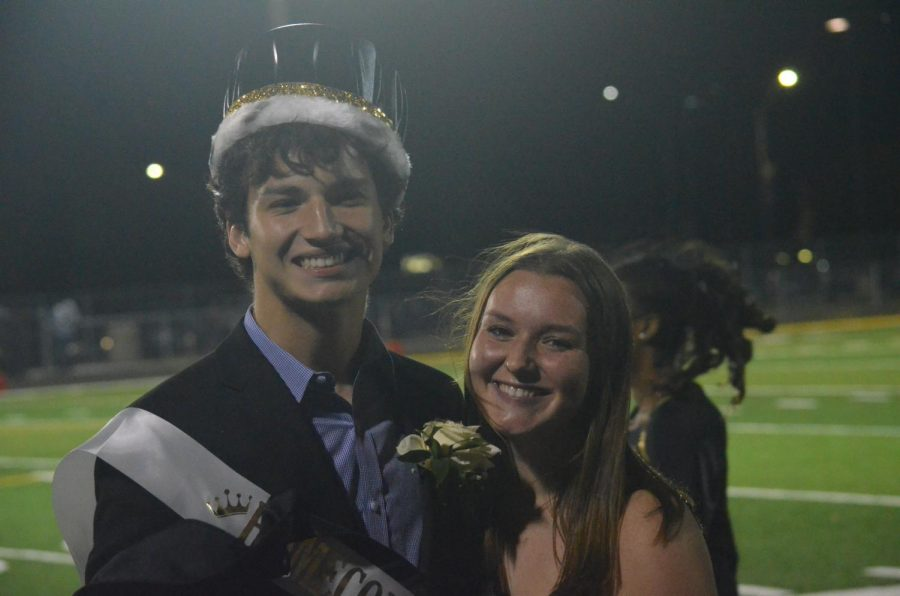 Homecoming King, Gustavo Botero and queen nominee, Sarah Tauber